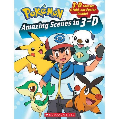 Pokemon: Amazing Scenes in 3-D - by  Simcha Whitehill (Paperback) - image 1 of 1