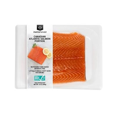 Marine Harvest Plain Salmon Portion - Frozen - 10oz