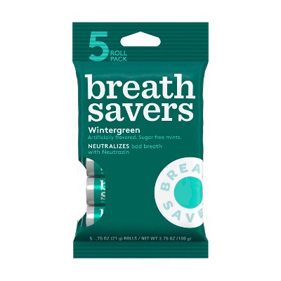 Breathsavers Wintergreen Sugar-Free Mint Candies - .75oz /5ct