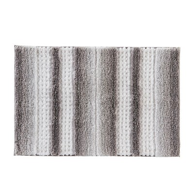 "20"" x 30"" Stripe Fade Bath Rug Silver - Saturday Knight Ltd."