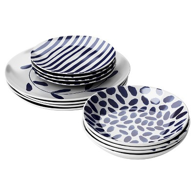 Robert Gordon® Indigo Brush 12pc Dinnerware Set