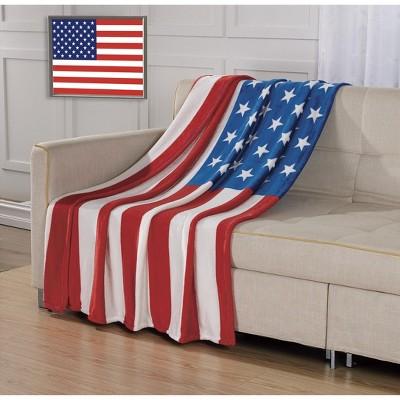 GoodGram Ultra Soft & Cozy Oversized USA American Flag Patriotic Ultra Plush Throw Blanket Cover