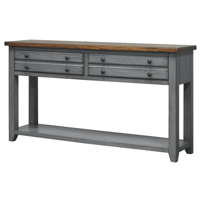 """60"""" Lakewood Console Table Smoky Blue - Martin Furniture"""