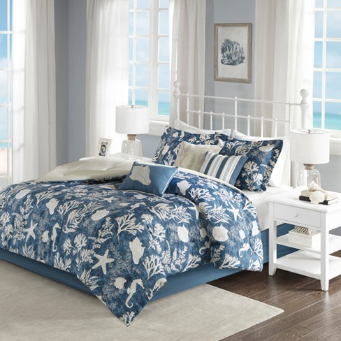 Blue Bedford Cotton Sa Comforter Set