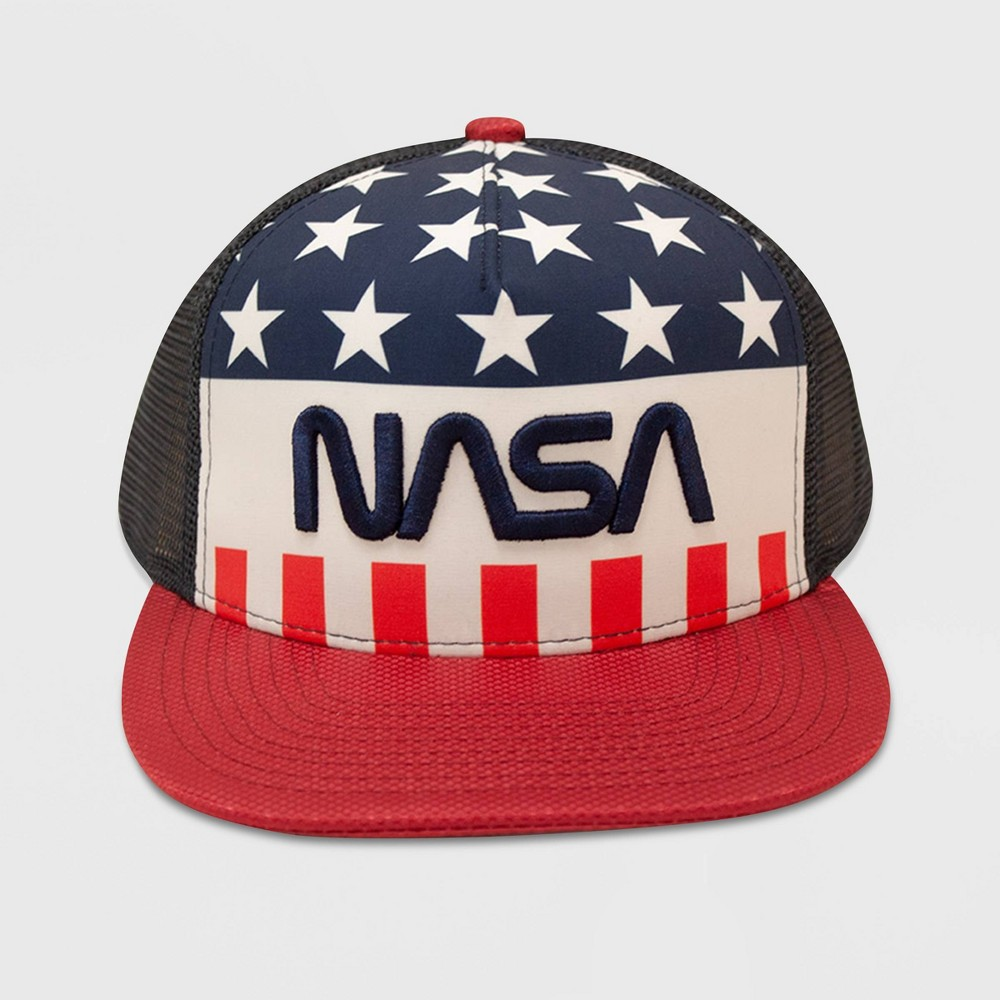 Image of Men's NASA Americana Mesh Baseball Hat - One Size, Men's, MultiColored