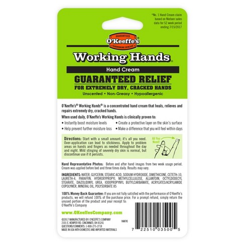 unscented o keeffe s working hands hand cream 3 4oz target