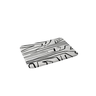 Viviana Gonzalez Modern Improvisation Memory Foam Bath Mat Black/White - Deny Designs