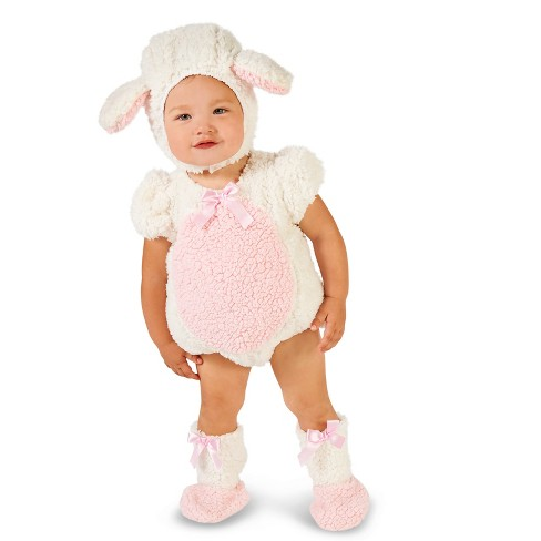 Baby Girls' Pink and White Lamb Halloween Costume - image 1 of 1