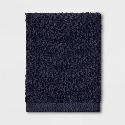Performance Texture Washcloth Navy Blue - Threshold™