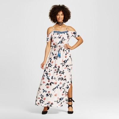 04ebcf01981 Womens Cold Shoulder Maxi Dress – Xhilaration™ (Juniors) Blush XS ...
