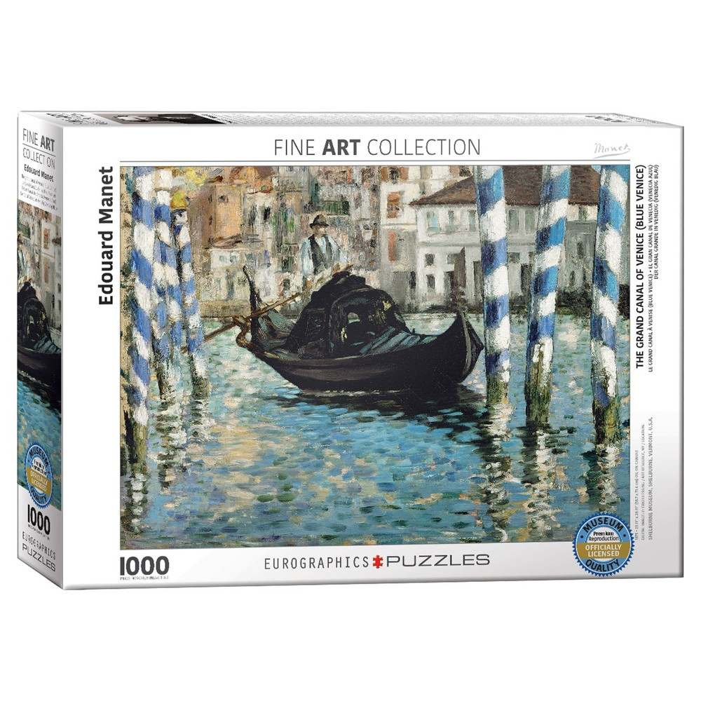 The Grand Canal of Venice (Blue Venice) by Edouard Manet 1000pc Puzzle