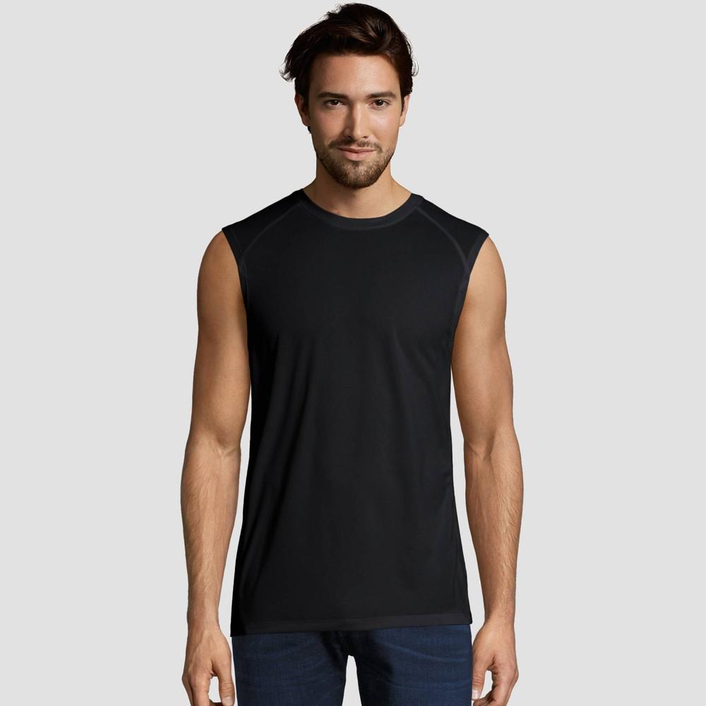 Hanes Sport Mens Performance Muscle T-Shirt - Black L Cheap