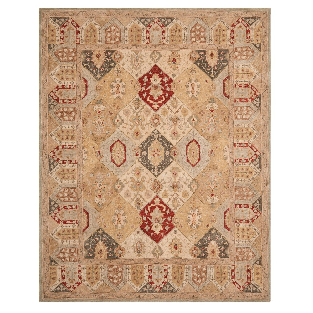 Leaf Tufted Area Rug 9'X12' - Safavieh, Beigenmulti-Colored