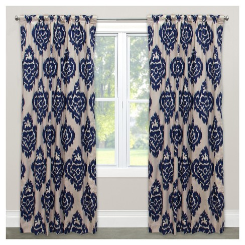 "Window Curtain Panels Medallion Blue (50""x108"") - image 1 of 4"