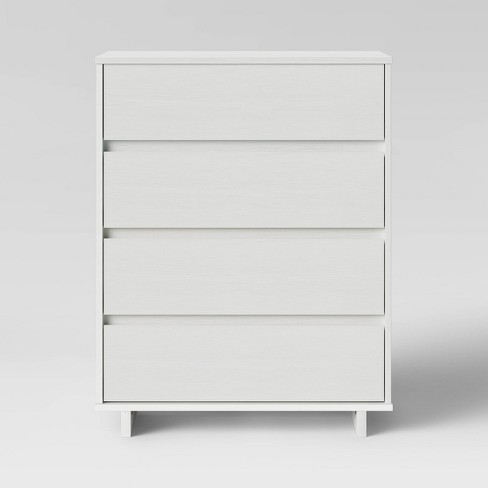 Modern 4 Drawer Dresser White Room