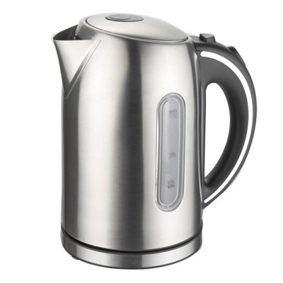 MegaChef 1.7L Electric Tea Kettle - Silver