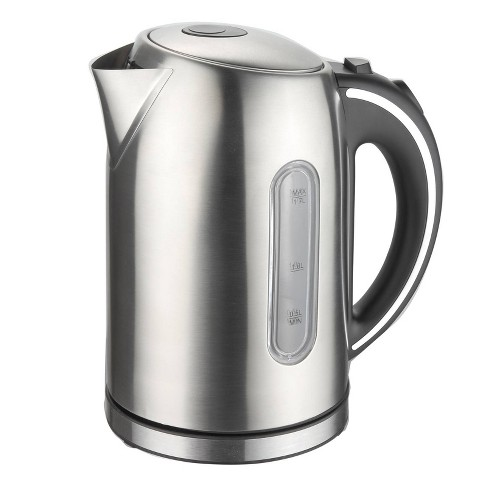 MegaChef 1.7L Electric Tea Kettle - Silver - image 1 of 4