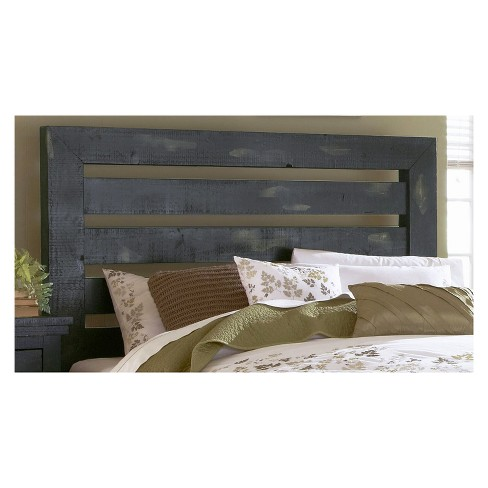 Willow 5/0 Queen Slat Headboard - Distressed Black - Progressive Furniture - image 1 of 1