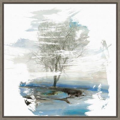 "16"" x 16"" Moonlight Kingdom Tree by PI Gallerie Framed Canvas Wall Art - Amanti Art"