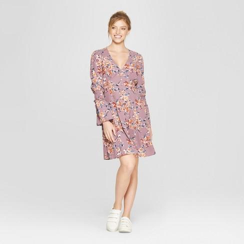 7e93e9c400 Women s Floral Print Long Sleeve Button Front Dress - Xhilaration ...