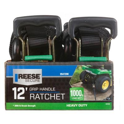 REESE 12' Heavy Duty Ratchet Tie Down