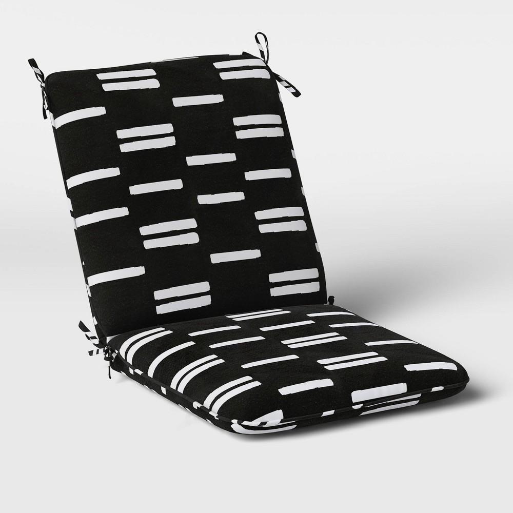 Stripe Outdoor Chair Cushion Duraseason Fabric 8482 Black White Project 62 8482