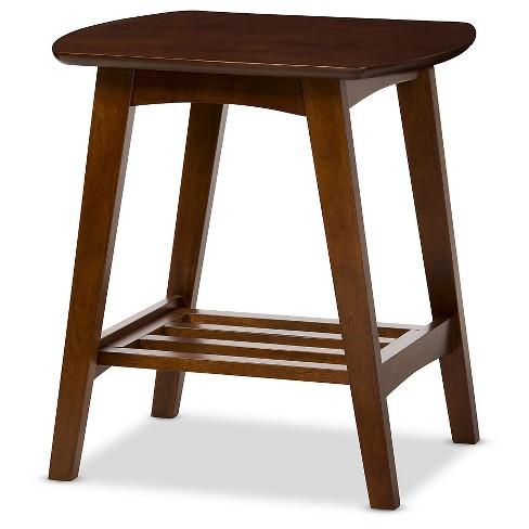 Sacramento Mid-century Modern Scandinavian Style End Table - Dark Walnut - Baxton Studio - image 1 of 4
