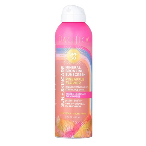 Pacifica SPF 30 Mineral Bronzing Spray Sunscreen Pineapple Flower 6 fl oz - image 1 of 1