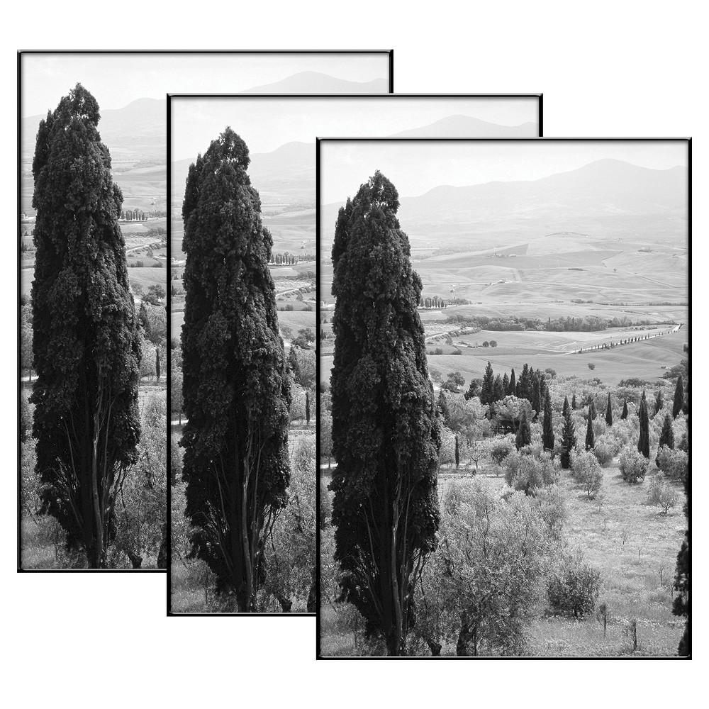 """Image of """"5"""""""" x 7"""""""" Set of 3 Format Picture Frame Set Black - MCS"""""""
