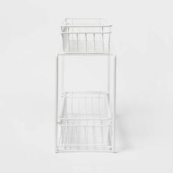 2 Tier Slide Out Storage Rack Slim - Threshold™