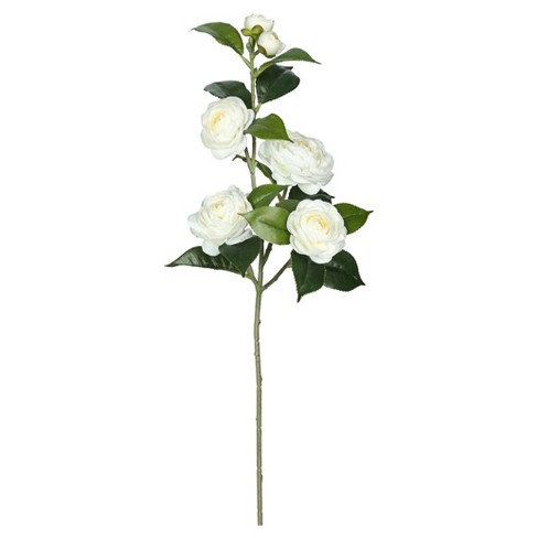 "Artificial Camellia Spray (29"") Cream - Vickerman - image 1 of 1"