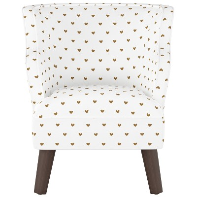 Kids Curved Arm Modern Chair Golden Hearts With... : Target