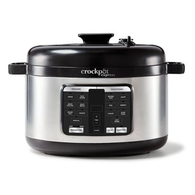 Crockpot Express 6qt Oval Max Pressure Cooker, Stainless Steel