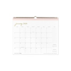 2020 Wall Calendar Modern Gray - cupcakes and cashmere for Blue Sky