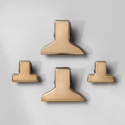Magnetic Metal Page Clips (4ct)- Hearth & Hand™ with Magnolia