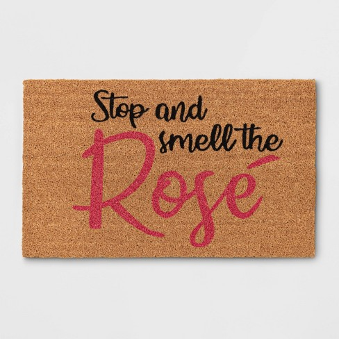 "1'6""x2'6"" Stop & Smell The Rose Coir Doormat Brown - Sun Squad™ - image 1 of 3"