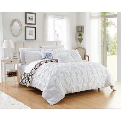 King 10pc Yabin Bed In A Bag Comforter Set White - Chic Home