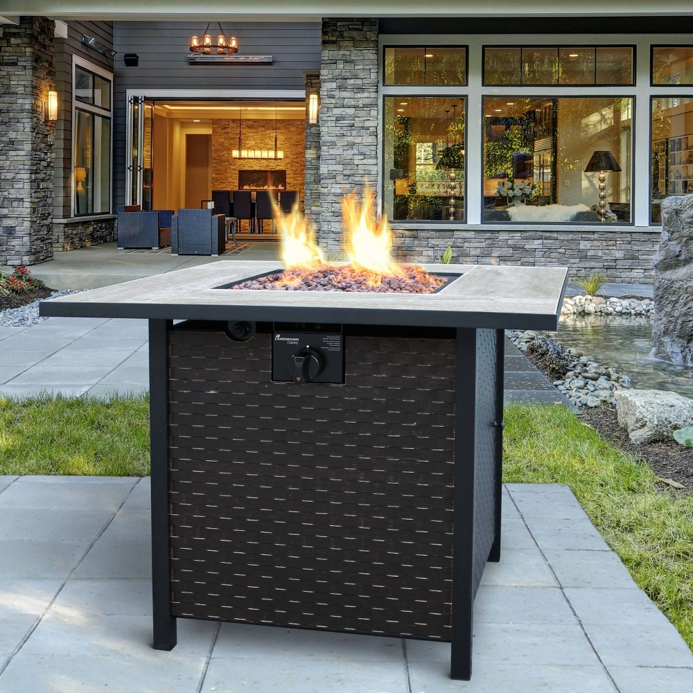Image of Oakley Gas Fire Table - Landmann