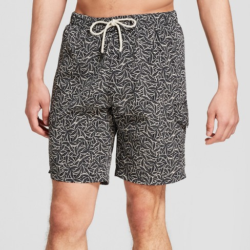 Men's Welcome To The Jungle Swim Trunks - No Retreat Black Oatmeal - image 1 of 3