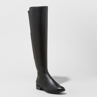 33b39fd142d2 Women s Breanna Over the Knee Riding Boots – A New Day™ Black 7.5 ...