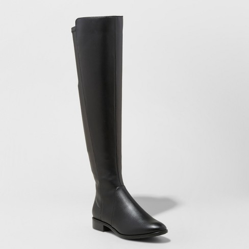 Women's Breanna Over the Knee Riding Boots - A New Day™ Black 10 - image 1 of 3