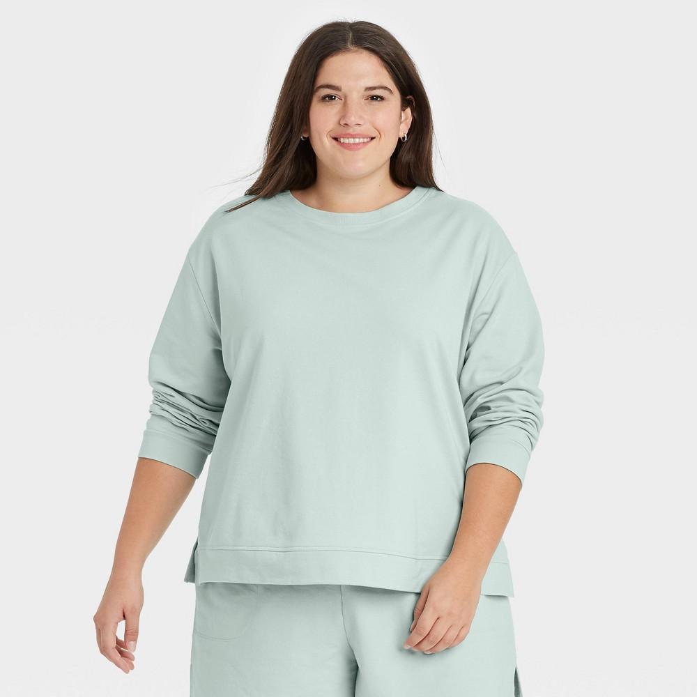 Women 39 S Plus Size Sweatshirt Ava 38 Viv 8482 Mint 1x
