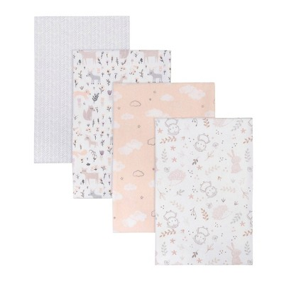 Trend Lab Woodland Flannel Receiving Blankets - 4pk