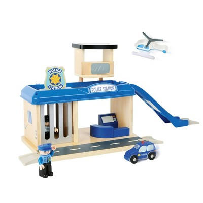 Small Foot Wooden Toys Police Station Playset