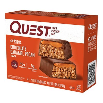 Quest Hero Protein Bar - Chocolate Caramel Pecan - 4ct