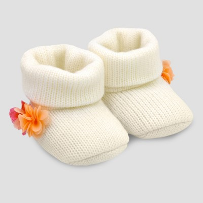 Baby Girls' Pom Bootie - Just One You® made by carter's White Newborn