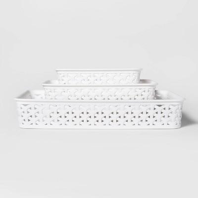 3pk Y-Weave Cube Storage Basket White 2 x10  - Room Essentials™
