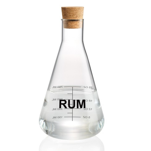 Home Mixology Glass Rum Decanter With Cork Stopper 25oz - image 1 of 2