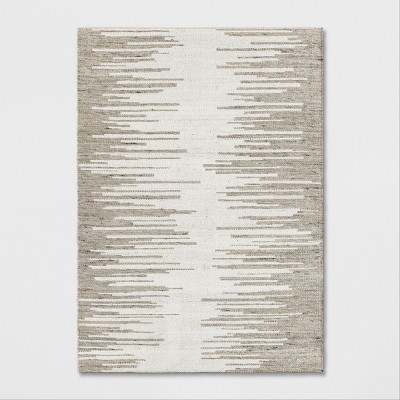5'X7' Woven Ikat Design Area Rug Gray - Project 62™