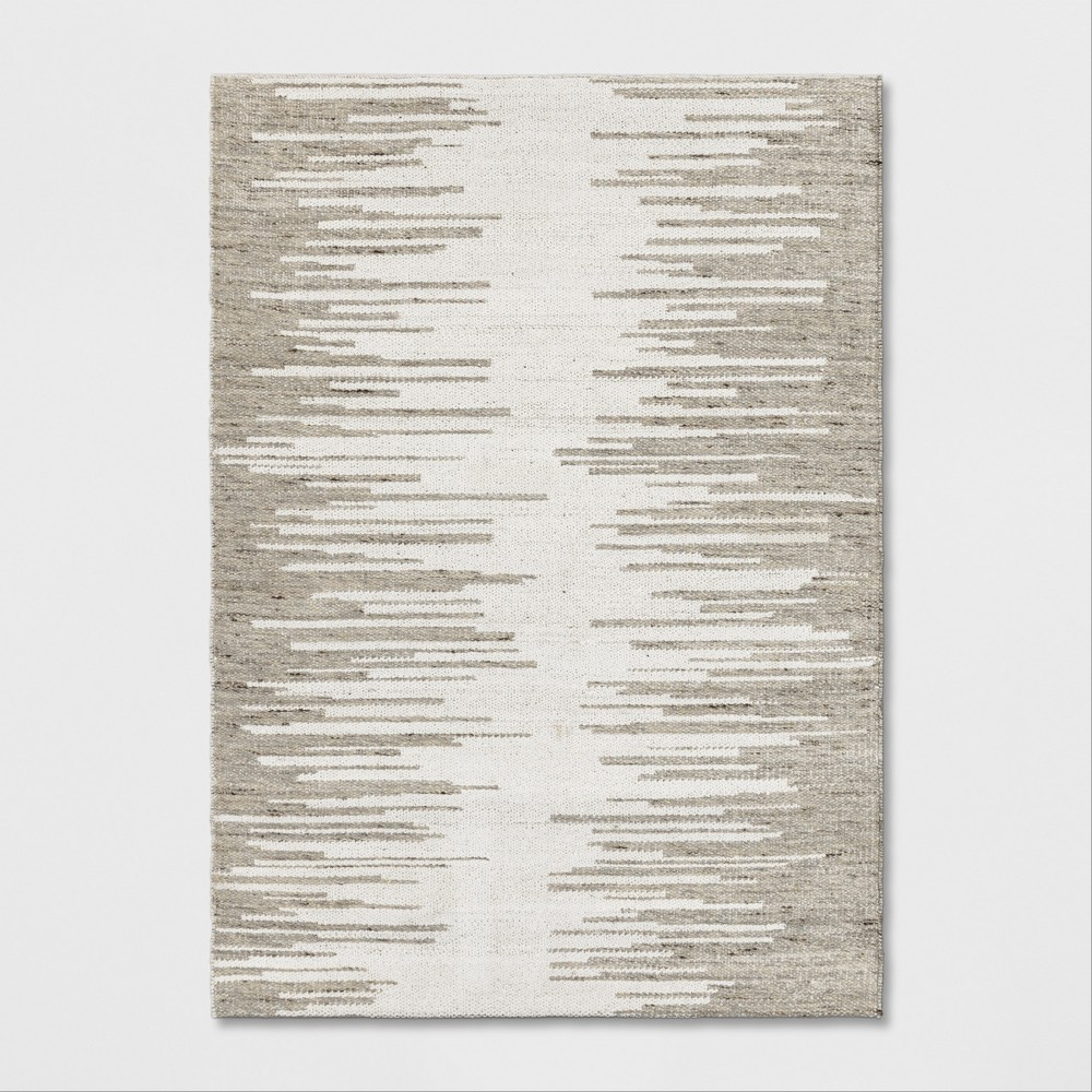 5x7 Woven Ikat Design Area Rug Gray Project 62